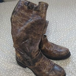 Frye distressed Moto boots